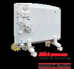 STIEBEL-ELTRON CNS F 1500 W hordozható fűtőpanel görgős lábakkal, hátulnézetből