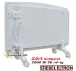 STIEBEL-ELTRON CNS F 2000 W mobil elektromos radiátor görgős lábakon, hátulnézetből