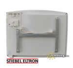 STIEBEL-ELTRON CNS SE 1500 W elektromos fűtőtest hátulról a tartozék szerelőkerettel