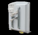 A STIEBEL-ELTRON CNS SE 500 W elektromos fűtőkészülék hátulról, a tartozék fali szerelőkerettel