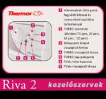 A Thermor Riva elektromos törölközőszárító kezelőszervei