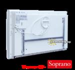 Thermor Soprano (2000 W)  kettős hatású digitális vezérlésű elektromos radiátor elölnézetből