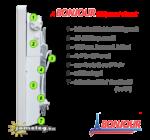 A Bonjour elektromos radiátor részei