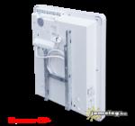 A Thermor Evidence 2 (500 W) elektromos radiátor hátulról, a fali tartókerettel