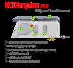 Dimplex PLX 750 / 1000 / 1500 / 2000 W elektromos radiátor kezelőpanele zárható, átlátszó fedéllel