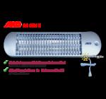 AKO 1800 W kvarccsöves infrasugárzó zsinórkapcsolóval és három fokozattal