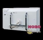 A NOBO NORDIC LIGHT  NFC4W 1000 W típusú norvég villanyradiátor  hátulról, a tartozék fali tartókerettel