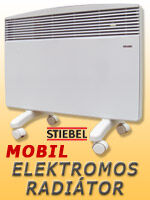 Hordozható elektromos radiátor - mobil elektromos fűtés