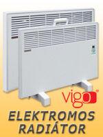 Vigo elektromos radiátor fali és hordozható kivitelben