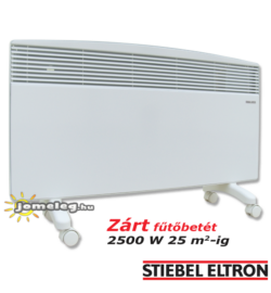 STIEBEL-ELTRON CNS F 2500 W nagyteljesítményű hordozható elektromos radiátor elölnézetből