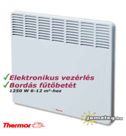 A Thermor Evidence 2 (1250 W) fűtőpanel előlnézetben
