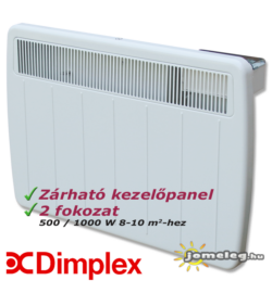 Dimplex PLX 1000 W elektromos fűtőkészülék előlnézetből