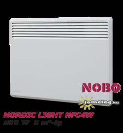 NOBO NORDIC LIGHT  NFC4W 500 W típusú norvég elektromos radiátor legfeljebb  5 nm-hez