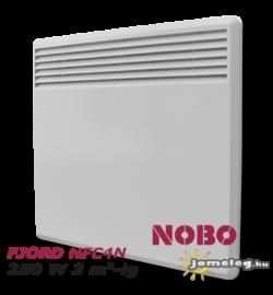 NOBO FJORD NFC4N 250W-os, kis teljesítményű elektromos fűtőpanel cserélhető vezérlővel