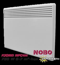 NOBO FJORD NFC4N 750W-os fűtőpanel cserélhető vezérlővel