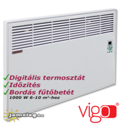 Vigo 1000 W teljesítményű digitális vezérlésű elektromos radiátor beépített időzítővel