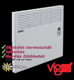 Vigo 500 W teljesítményű digitális vezérlésű elektromos radiátor időzítővel