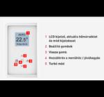 Thermor Riva3  erp-s elektromos törölközőszárító radiátor 1000W (új modell)