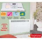 Thermor Soprano kettős hatású elektromos radiátor digitális vezérléssel és időzítővel