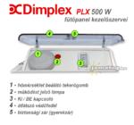 Dimplex PLX 500 W elektromos konvektor kezelőpanel