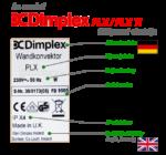 Dimplex PLX elektromos radiátor adattábla