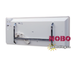 A NOBO NORDIC LIGHT  NFC4W  1500 W -os elektromos fűtőberendezés hátulnézetben a gyári tartozék fali szerelőkerettel