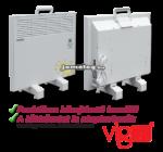 Az 500 W teljesítményű Vigo elektromos radiátor praktikus kihajtható hordfüllel rendelkezik, ráadásul a lábkészlet a fali szerelőkeret mellett szintén alaptartozék