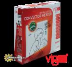 A Vigo 500 W teljesítményű elektromos konvektor gyári csomagolásában