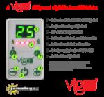A Vigo elektromos radiátor digitális kezelőfelülete