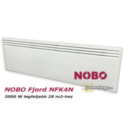 NOBO FJORD NFK4N 2000W-os fűtőpanel cserélhető vezérlővel