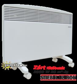 STIEBEL-ELTRON CNS F 2000 W mobil elektromos radiátor görgős lábakon, elölnézetből