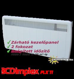 Dimplex PLX TI 2000 W elektromos radiátor beépített időzítővel, előlnézetből
