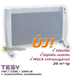 Tesy MC 20112 hordozható digitális vezérlésű infrapanel elölről