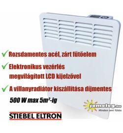 STIEBEL-ELTRON CWM 500p W elektromos fűtőpanel előlnézetből